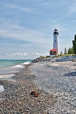 Photograph - Crisp Point Lighthouse by Michael Peychich