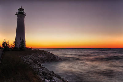 Photograph - Crisp Point Sunset by CA  Johnson
