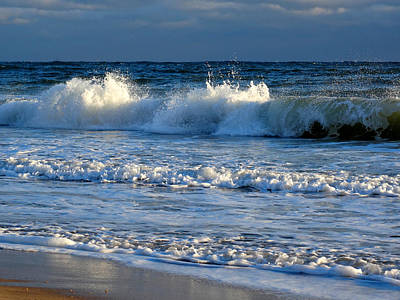 Undertow Photograph - Crisp Winter Light On Waves by Dianne Cowen