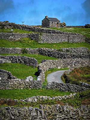 Photograph - Criss-crossed Stone Walls Of Inisheer by James Truett