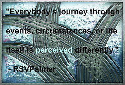 Digital Art -  Crisscross Boat Trails - With Quote by RSVPalmer
