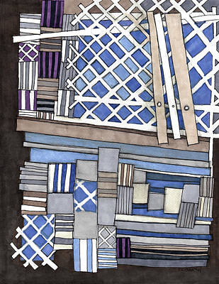 Mixed Media - Crisscross Patterns by Sandra Church