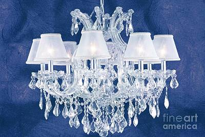 Cristal Blue Chandelier Art Print