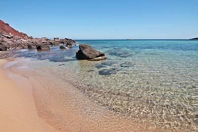 Photograph - Cristaline Beach  El Pilar Menorca by Pedro Cardona Llambias