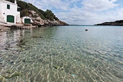 Photograph - Cristaline Water And Vintage Mediterranean Seaside Hut by Pedro Cardona Llambias