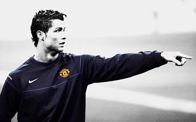 Mixed Media - Cristiano Ronaldo 6c by Brian Reaves