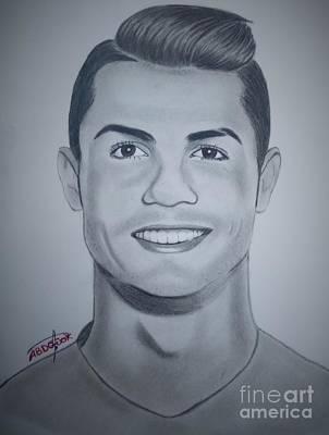 Cristiano Ronaldo Drawing - Cristiano Ronaldo by Abdo Jouk