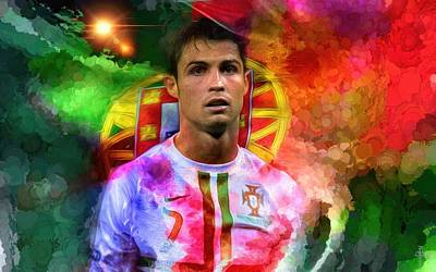 Cristiano Ronaldo Photograph - Cristiano Ronaldo - Colors And Life by Daniel Arrhakis
