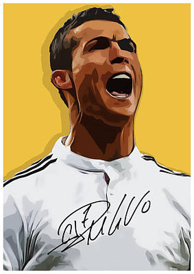 Cristiano Ronaldo Cr7 Print by Semih Yurdabak