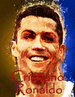 Cristiano Ronaldo Mixed Media - Cristiano Ronaldo by Edelberto Cabrera