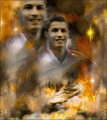 Cristiano Ronaldo Painting - Cristiano Ronaldo  Inspiration And Legend  by Daniel Arrhakis