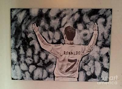 Cristiano Ronaldo Drawing - Cristiano Ronaldo by Jose Varela