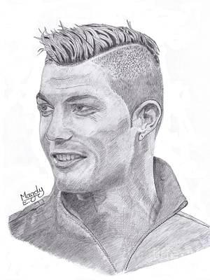 Cristiano Ronaldo Drawing - Cristiano Ronaldo by Magdy Ebade