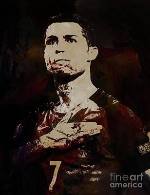 Painting - Cristiano Ronaldo Okia by Gull G