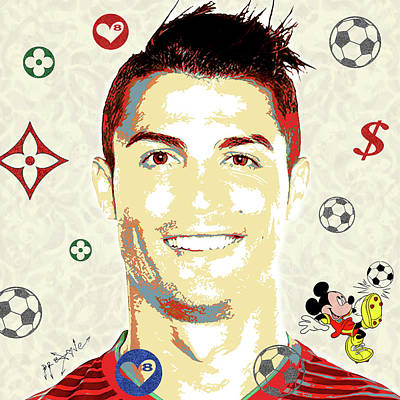 Cristiano Ronaldo Mixed Media - Cristiano Ronaldo - Portugal by Dr Eight Love