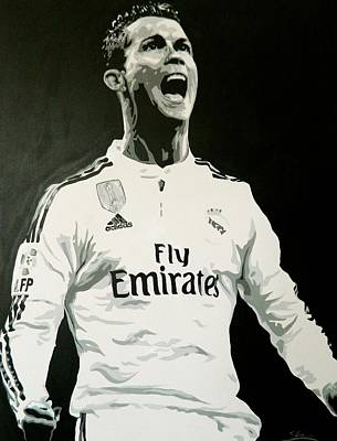 Cristiano Ronaldo Real Madrid Art Print by Scott Strachan