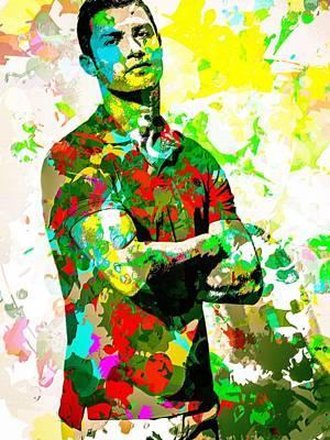 Cristiano Ronaldo Mixed Media - Cristiano Ronaldo by Svelby Art