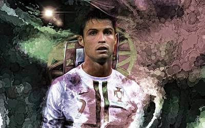 Cristiano Ronaldo Photograph - Cristiano Ronaldo - Time For Warriors  by Daniel Arrhakis