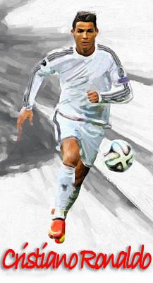 Cristiano Ronaldo Painting - Cristiano Ronaldo by Vya Artist