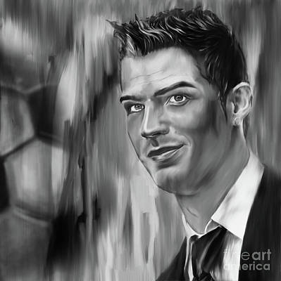 Cristiano Ronaldo Painting - Cristiano Soccer Player 01 by Gull G