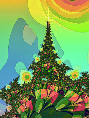 Digital Art - Cristmas Tree 2 by Alexandru Bucovineanu