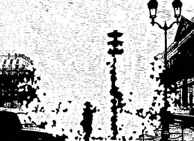 Critical Crossing -- Hand-pulled Linoleum Cut  Art Print