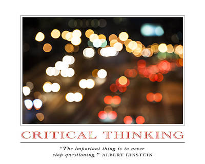 Photograph - Critical Thinking by David Simchock