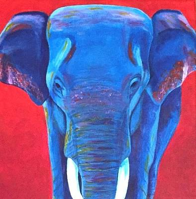 Painting - Critically Endangered Sumatran Elephant  by Artistic Indian Nurse