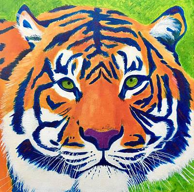 Painting - Critically Endangered Sumatran Tiger by Artistic Indian Nurse