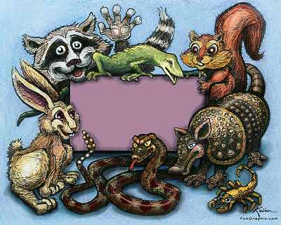 Armadillo Digital Art - Critters by Kevin Middleton