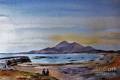 Painting - F801  Croagh Patrick From Old Head, Mayo by Val Byrne