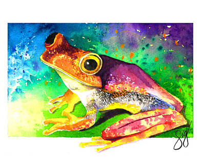 Painting - Croaking Color by Sigrid Tidmore