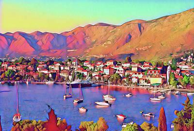 Croatia Coastal Living Art Print