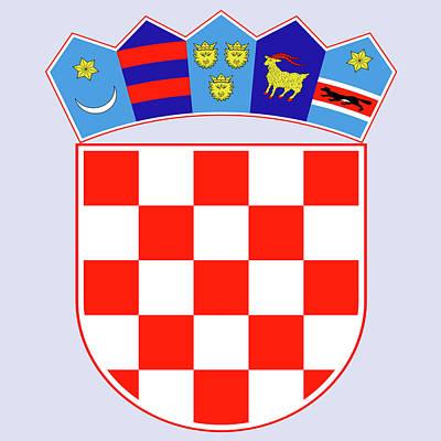 Croatia Coat Of Arms Art Print by Movie Poster Prints
