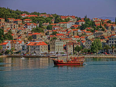 Photograph - Croatian Boat In Split by Don Wolf