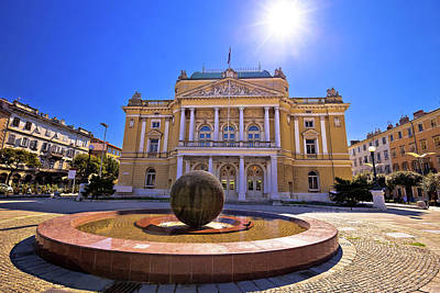 Photograph - Croatian National Theater In Rijeka Square View by Brch Photography