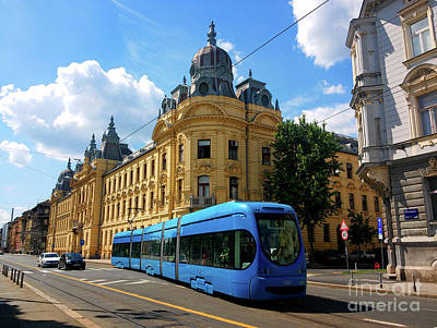 Photograph - Croatian Railways Building, Zagreb by Jasna Dragun