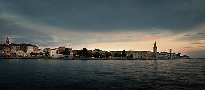 Photograph - Croatian Town Of Porec At Dusk by Alex Saunders
