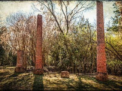 Crocheron Columns Art Print by Phillip Burrow