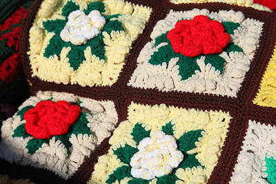 Photograph - Crochet Roses Afghan by Robin Coventry