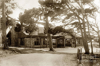 Photograph - Crocker Dining Hall Asilomar Pacific Grove Circa 1925 by California Views Mr Pat Hathaway Archives
