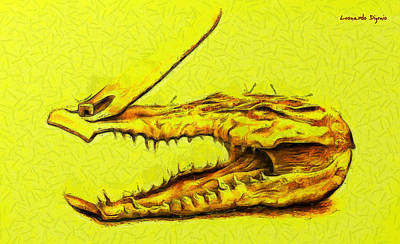 Wooden Painting - Crococlipper - Pa by Leonardo Digenio