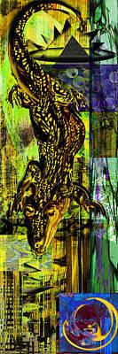 Crocodile Mixed Media - Crocodile At Nile by Anne Weirich