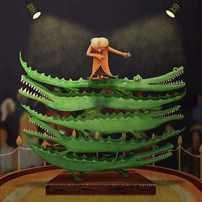 Crocodile Digital Art - Crocodile Circus by Catherine Swenson