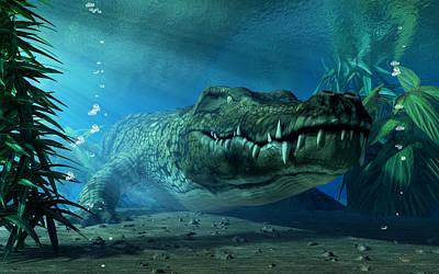 Digital Art - Crocodile by Daniel Eskridge
