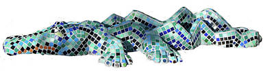 Sculpture - Crocodile by Katia Weyher