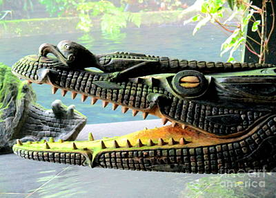 Photograph - Crocodile Mouth by Randall Weidner