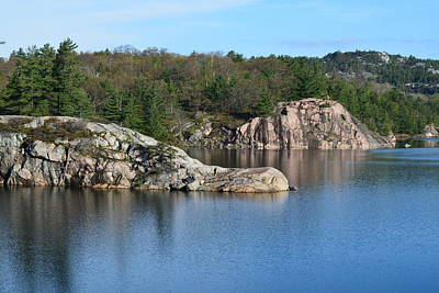 Photograph - Crocodile Rock- George Lake, Killarney Provincial Park  by David Porteus