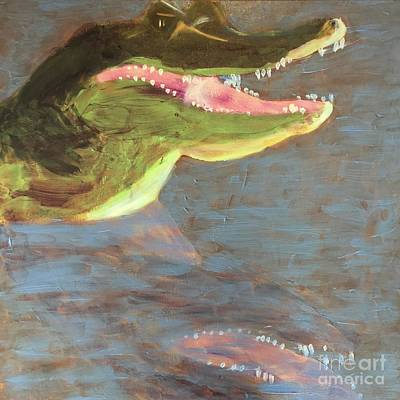 Painting - Crocodile by Donald J Ryker III