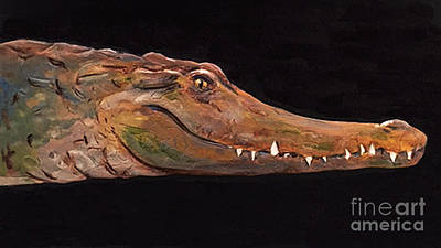 Crocodile Mixed Media - Crocodilian Conservation Center Of Florida by Naia Hannah Haast
